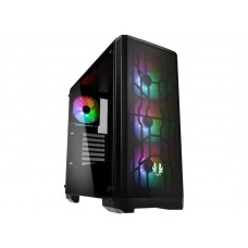 BitFenix Boîtier d'ordinateur Nova Mesh TG A-RGB Noir
